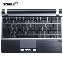GZEELE new laptop keyboard with C shell for ASUS U24 U24E U24E-1A Topcase Housing Palmrest with touchpad