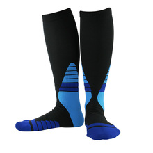 1 Pair Hiking Cycling Elastic Compression Muscle Support Basketball Fitness Copper Ion Soft Outdoor Varicose Veins Sport Socks cofoe medical varicose veins socks stretch spandex sock protect calf 2 grade 23 32mmhg pressure a pair for sexy beautiful woman
