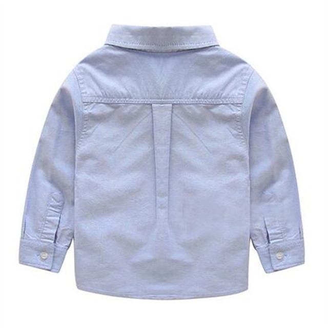 Boy Cotton Long-sleeved Shirt 2018 Autumn and Winter Spring and Autumn Korean Children's Clothing White Solid Color Baby Shirt