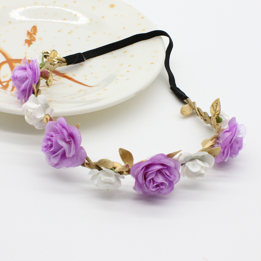 Pink Floral Crown Headband Girls rose Flower Crown wedding Hair Accessories  1pc-in Hair Accessories from Mother   Kids on Aliexpress.com  3255f4510de
