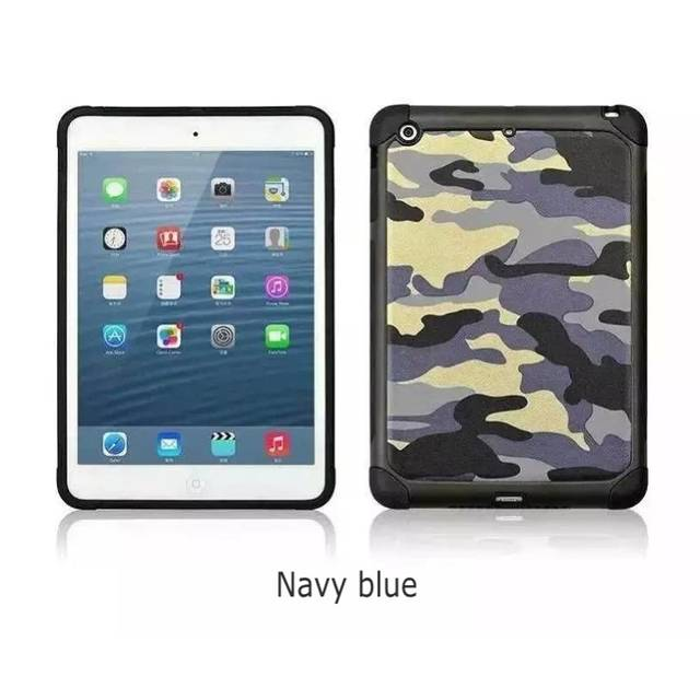 huge selection of 407d5 d73ea Heavy Duty Case For Ipad Mini 3 Armor Camouflage ShockProof Plastic Cover  Soft Silicone Case for Ipad Mini 1 2 3 Screen Film