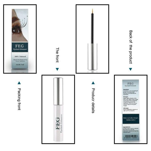 FEG Eyelash Enhancer 100% Original Eyelash Growth Treatment Serum Natural Herbal Medicine Eye Lashes Mascara Lengthening Longer 5