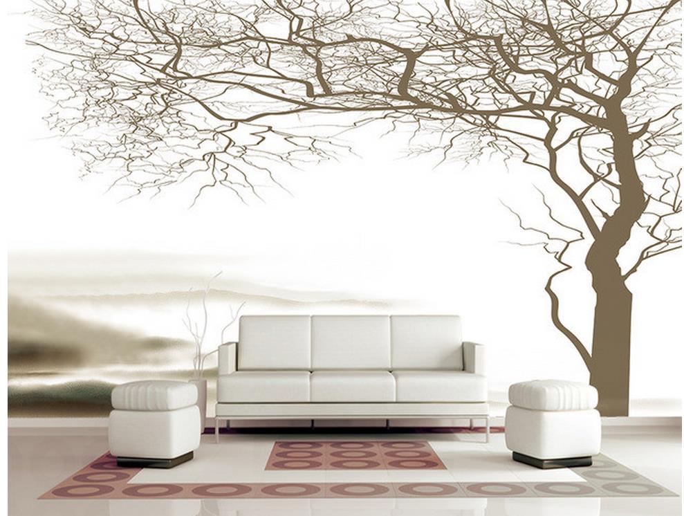 US $13.44 58% OFF|Wand mural fototapete land schlafzimmer tapeten abstrakte  baum schöne häuser tapete-in Tapeten aus Heimwerkerbedarf bei AliExpress