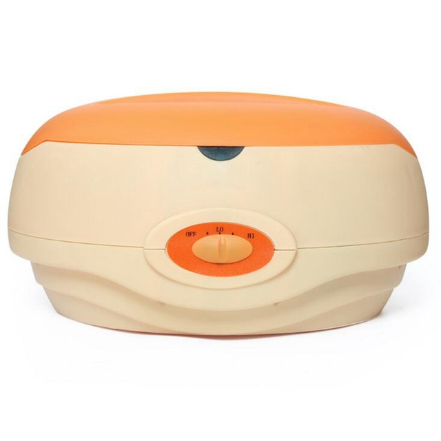Hand Paraffin Heater Therapy Bath Wax Pot Warmer Beauty Salon Spa Wax Heater Equipment Keritherapy System Orange