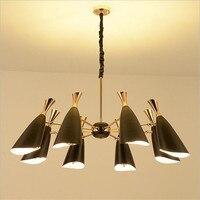 Nordic светодио дный люстры, металл Абажур Висит Свет для Кухня люстры для гостиной дома деко светильник люстры