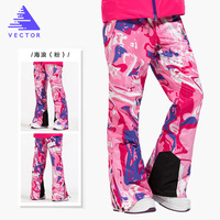 VECTOR Women Skiing Pants Waterproof Snow Trousers Outdoor Winter Sports Warm Snowboard Pants Female Winter Ski Pants HXF70016