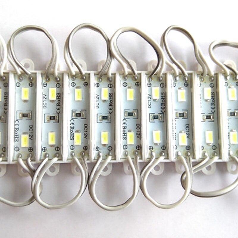 20 шт./лот 12 В постоянного тока, миниатюрный светодиодный осветительный модуль 5730 SMD, Водонепроницаемая светодиодная подсветка IP66 для реклам...