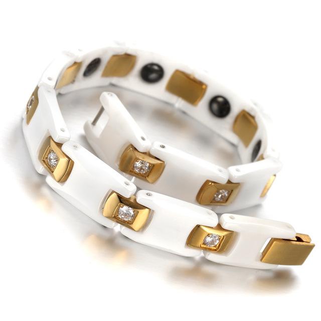 braceletHealth Energy Hematite Ceramic Bracelet