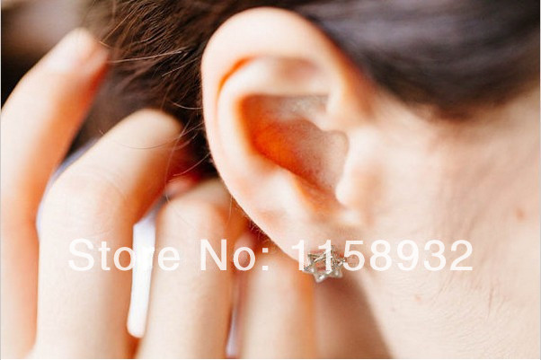 Trendy Star Hollow out Design Hexagonal Geometric Stud Earrings  30PCS/LOT