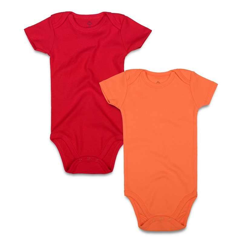 926cbaa777d ... 2PCS lot Baby Bodysuit 100% Cotton Newborn Baby Boy Girl Clothing Short  Sleeve Black ...