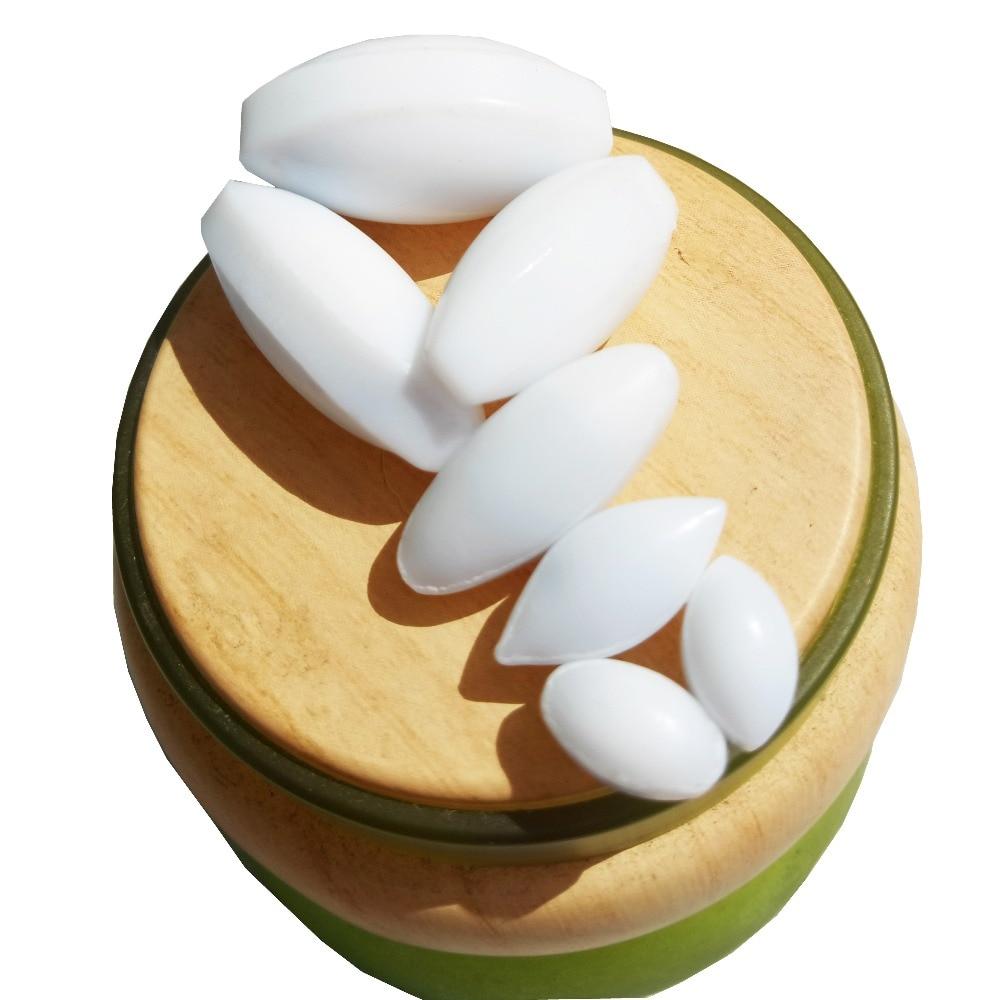 10st olika storlek PTFE Magnetisk omrörare Mixer Rörstänger Olivformar Rörstänger PTFE Rörstång Teflon Spindel