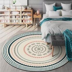 Obszar AOVOLL dywanik do sypialni w stylu etnicznym beżowy koło okrągły dywan wykładziny i dywany dla domu salon mycie mechaniczne w Dywany od Dom i ogród na