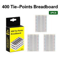 3PCS HIGH QUALITY 400 Holes Mini Solderless  PCB Breadboard Universal Test  Breadboard with keyestudio color  Packaging