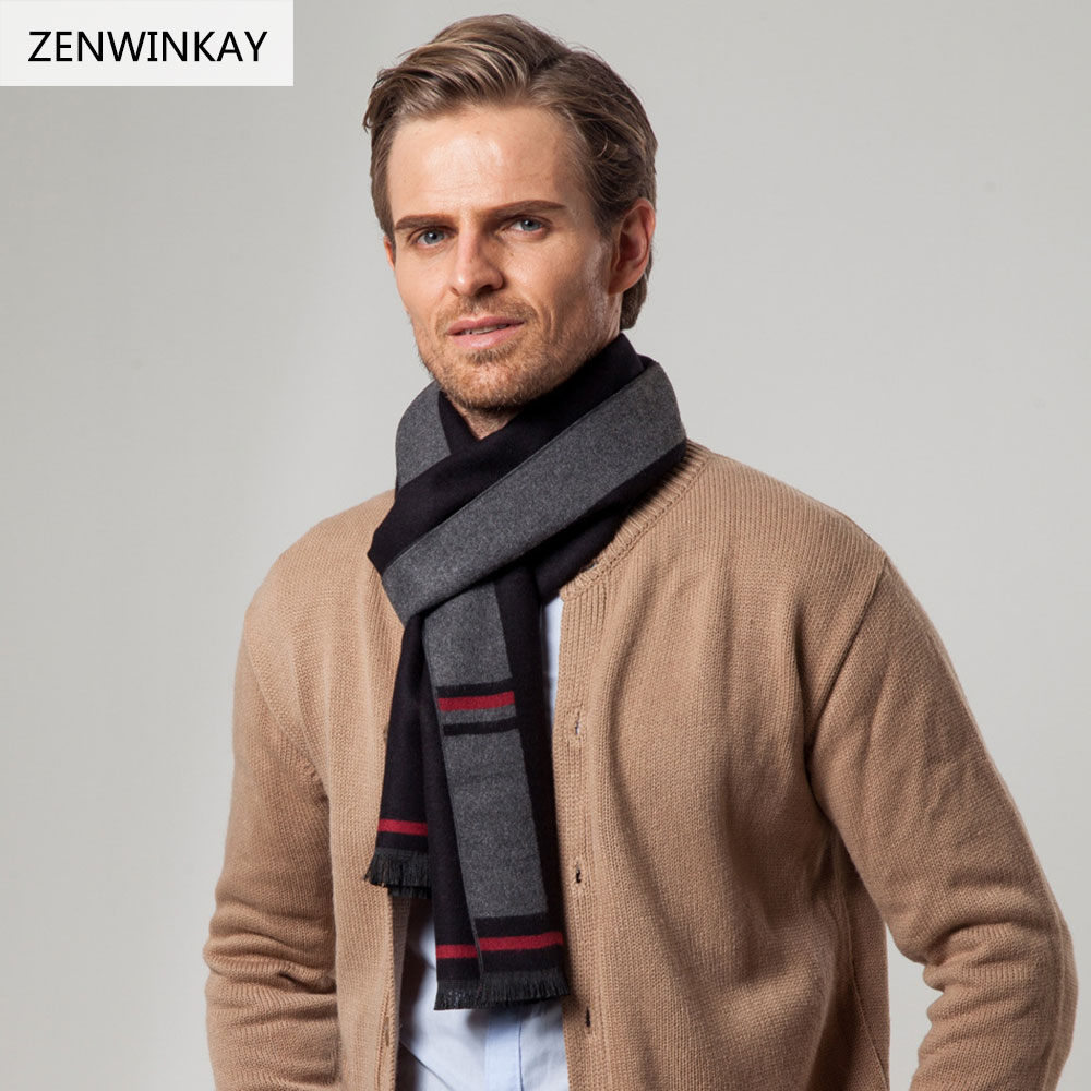 Aliexpress.com : Buy 2017 Winter Pashmina Scarf Men Wool ...