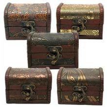 Vintage Jewelry Pearl Necklace Bracelet Storage Organizer Wooden Case Gift Box