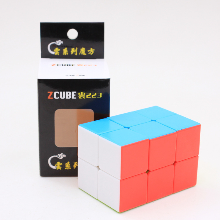 Mofangge Fanxin Zcube Lefun Carbon Firber 2x2x3 Magic Cube 223 White/Black Stickers Puzzle Cubes Kids Educational Funny Toys