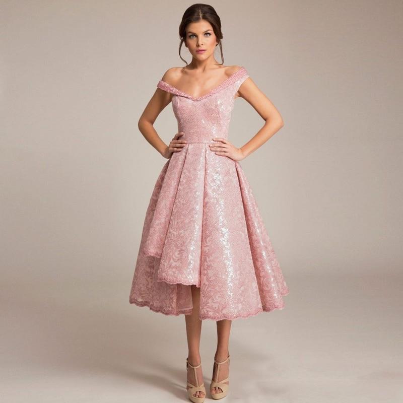 Moderno Vestido De Fiesta De Color Rosa De Encaje Ornamento - Ideas ...