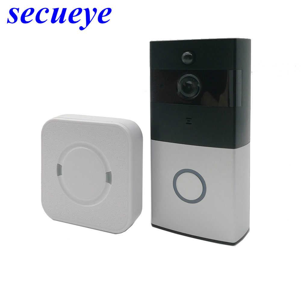 Secueye IP видеодомофон Wi-Fi видеодомофон дверной звонок wifi дверной Звонок камера для квартиры ИК сигнализация беспроводная камера безопасности