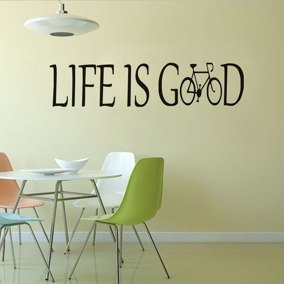 Us 4 54 23 Off Life Is Good Encouraging Quotes Wall Sticker For Kids Room Decor Vinyl Removable Wallpaper Decal Home Decoration Accessores In
