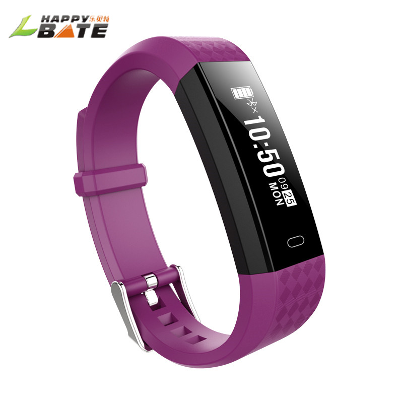 HAPPYBATE S668 smart watch Smart Bracelet Watch Alarm Clock Vibration Bluetooth Wristband for Android Heart rate monitoring