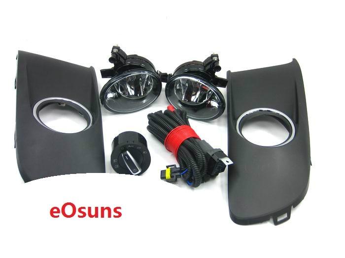 EOsuns pour vw caddy Lampe d'antibrouillards, 2 pièces Grilles, Faisceau de Câbles, projecteurs commutateur contrôle VW caddy 2011-2015
