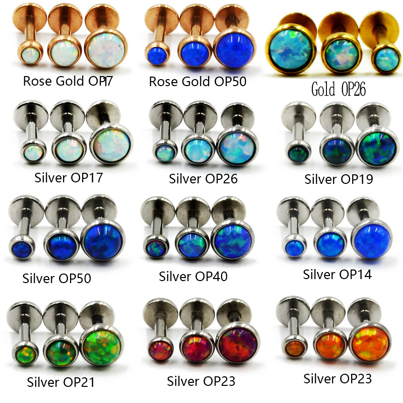 Gold Colored Round Ornate Rope Turquoise Colored Eyebrow Ring 16G - Sold as a Pair 1.2mm