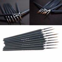 9 pçs/set linhas esboçadas gouache pincel caneta para pintura a óleo em aquarela forma diferente ponta pontiaguda pintura pincel conjunto