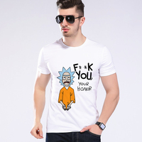 Newest Funny Cool Rick Morty Men T Shirt Summer New Anime Cotton Casual Funny Short