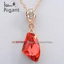 A1-P336 Italina Rigant Fashion Rhinestone Simulated Gemstone Necklace Pendant 18KGP Crystal Jewelry