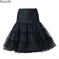Tutu Skirt Silps Swing Rockabilly Petticoat Underskirt Crinoline Fluffy For Wedding Bridal Retro Vintage Women Gown