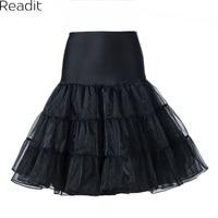 Tutu Skirt Silps Swing Rockabilly Petticoat Underskirt Crinoline Fluffy For Wedding Bridal Retro Vintage Women Gown