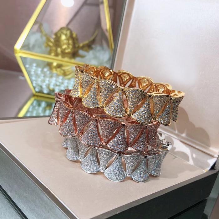 Bijoux en cuivre de mode Designer bracelet de fête en zircone cubique 3A-in Bracelets from Bijoux et Accessoires    1