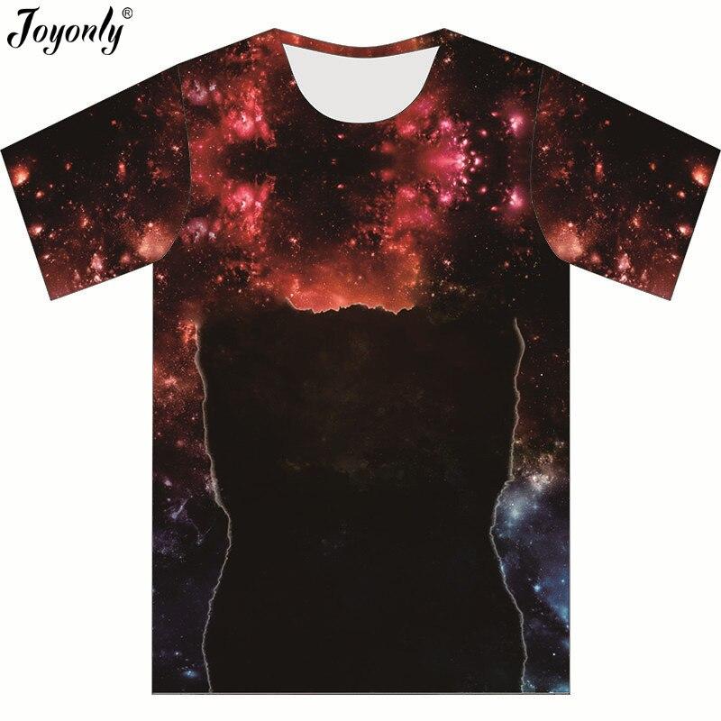 Joyonly 2018 summer harajuku style t-shirt boys girls red galaxy cat printed t shirt children brand tshirt cool funny tees tops