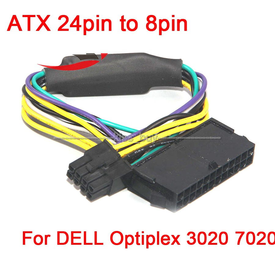 ATX 24pin to 8pin Power Supply Cable 18AWG for DELL Optiplex 3020 7020 9020