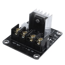 3D Printer hotbed MOSFET expansion module inc 2pin lead Anet A8 A6 A2 Compatible Black(China)