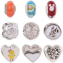 AIFEILI New Rainbow MOM Micini Arrival Many Styles European Charms for Beads Pandora Bracelets Necklace DIY Accessories(China)