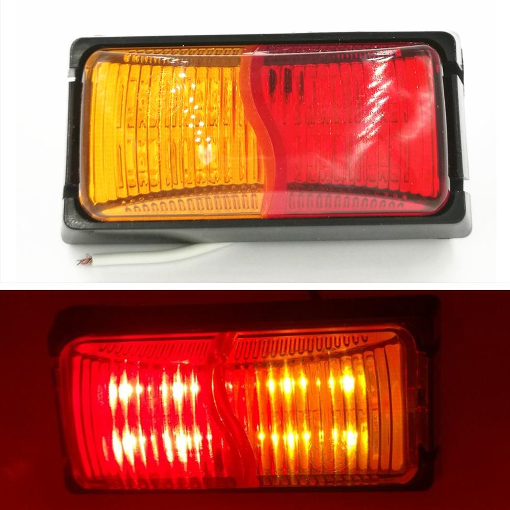 6.8 Reliable 50pcs/lot 12/24v Led Side Marker Light Red Amber Clearance Indicator Lamp Trailer Truck Pleasant To The Palate