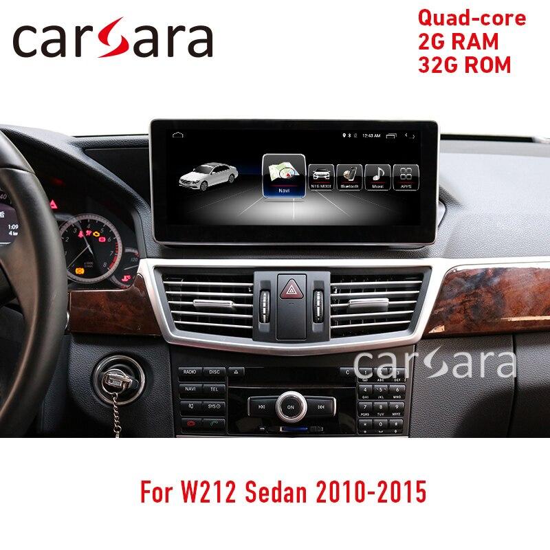 Mercede w212 tela sensível ao toque android navegador de vídeo unidade de cabeça rádio multimídia player monitor de exibição 10.25 2 32g 2010-2015 e250