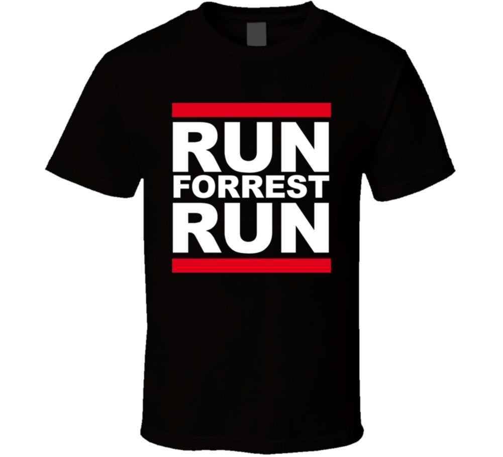 Run Forrest Run Bubba Gump Shrimp Tom Hanks Movie T Shirt Cool Casual pride t shirt men Unisex New Fashion tshirt Loose Size image