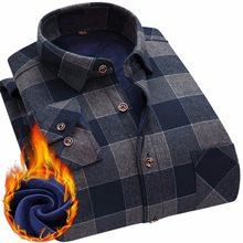 a3b73a61d 2018 de los hombres de la moda de invierno cálido de Slim camisas 24  colores a rayas de impresión blusa para hombres casuales Re.