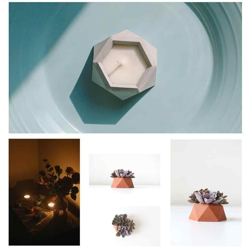 Diamond Shaped Silicone Mold Bloempot Vaas Beton Cement Schimmel Diy Klei Asbak Kaarshouder Mal Gips Cement Vlezige Pot