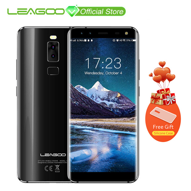LEAGOO S8 5,72 дюймов 18:9 Дисплей Android 7,0 mtk6750t восемь ядер смартфон 3 ГБ Оперативная память 32 ГБ 13MP 4 камеры отпечатков пальцев 4G телефон