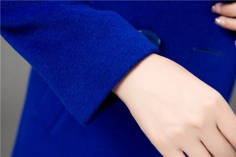 Wool Coat Female Fashion Women Woolen Coats High-end Elegant Long Slim Winter Jacket Royal Coats&Jackets Plus Size Femininos 4XL 13