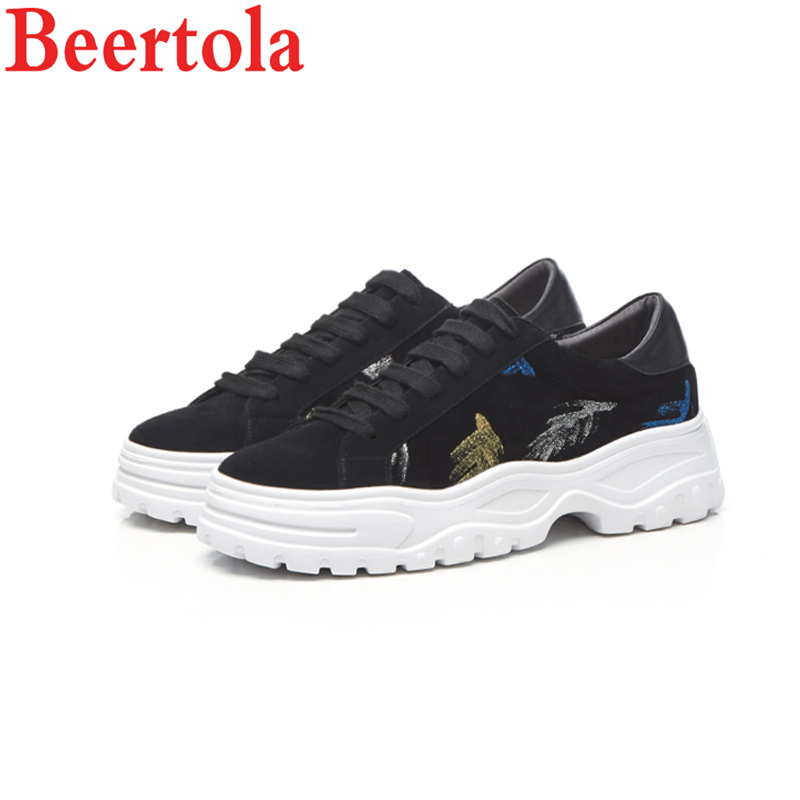As Femme Chaussures Beertola Tenis Designer Luxe De Dentelle Flora Paillettes Plate Casual Sneakers Picture Épais up D'orteil Ronde forme À Femmes Fond Feminino qpp1Prw4