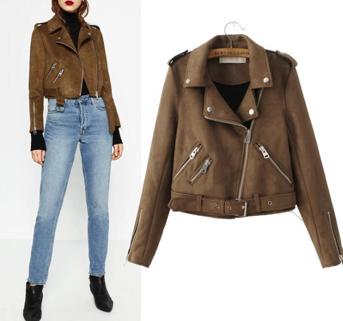 Popular Brown Leather Jackets for Women-Buy Cheap Brown Leather
