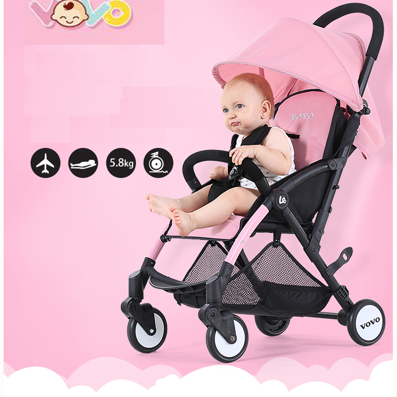 VOVO Baby Stroller High Landscape Baby Carriage For Newborn Infant Sit and Lie Four Wheels стоимость