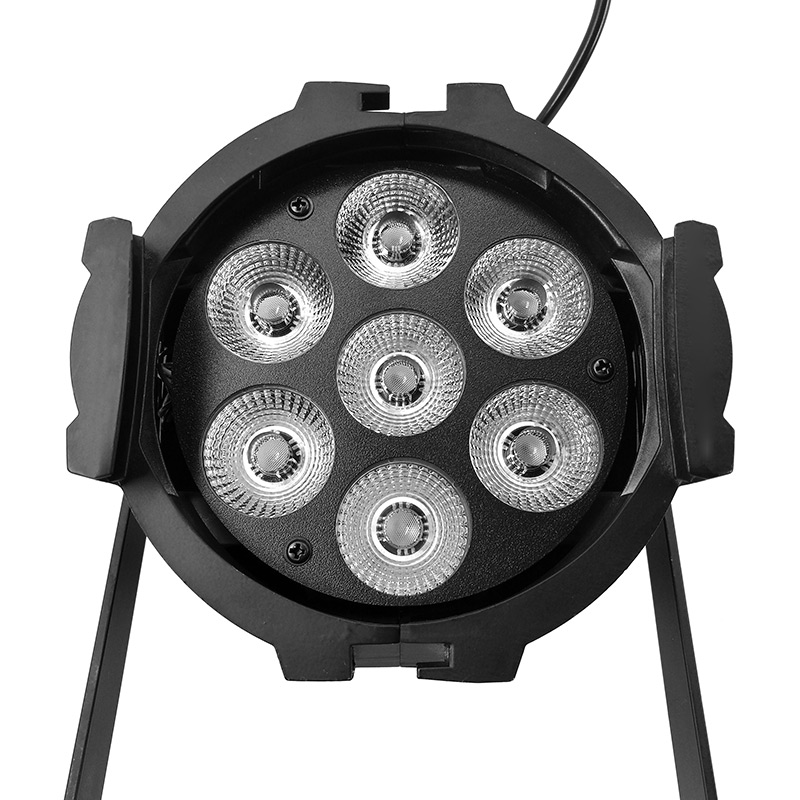 Illumination LED Can Par 7x18W Light Cast aluminum RGBWA+UV 6IN1 dmx512 stage lamp Profession For home entertainment DJ clubs