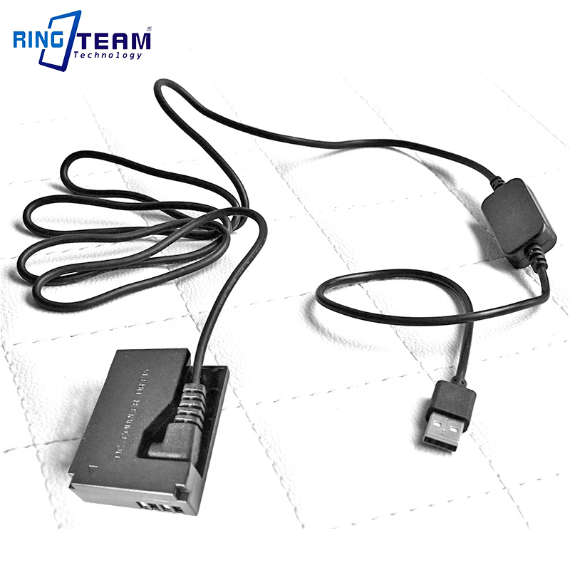 CA-PS700 USB Cable DC Adapter + DR-E10 Coupler Fit Power Bank For Canon Camera EOS EOS 1100D 1200D 1300D Kiss X50 Rebel T3 T5 T6