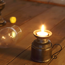 Home decor Retro resin Vintage lamp Cafe old Kerosene lamp Cafe soft Home decoration creative small ornaments