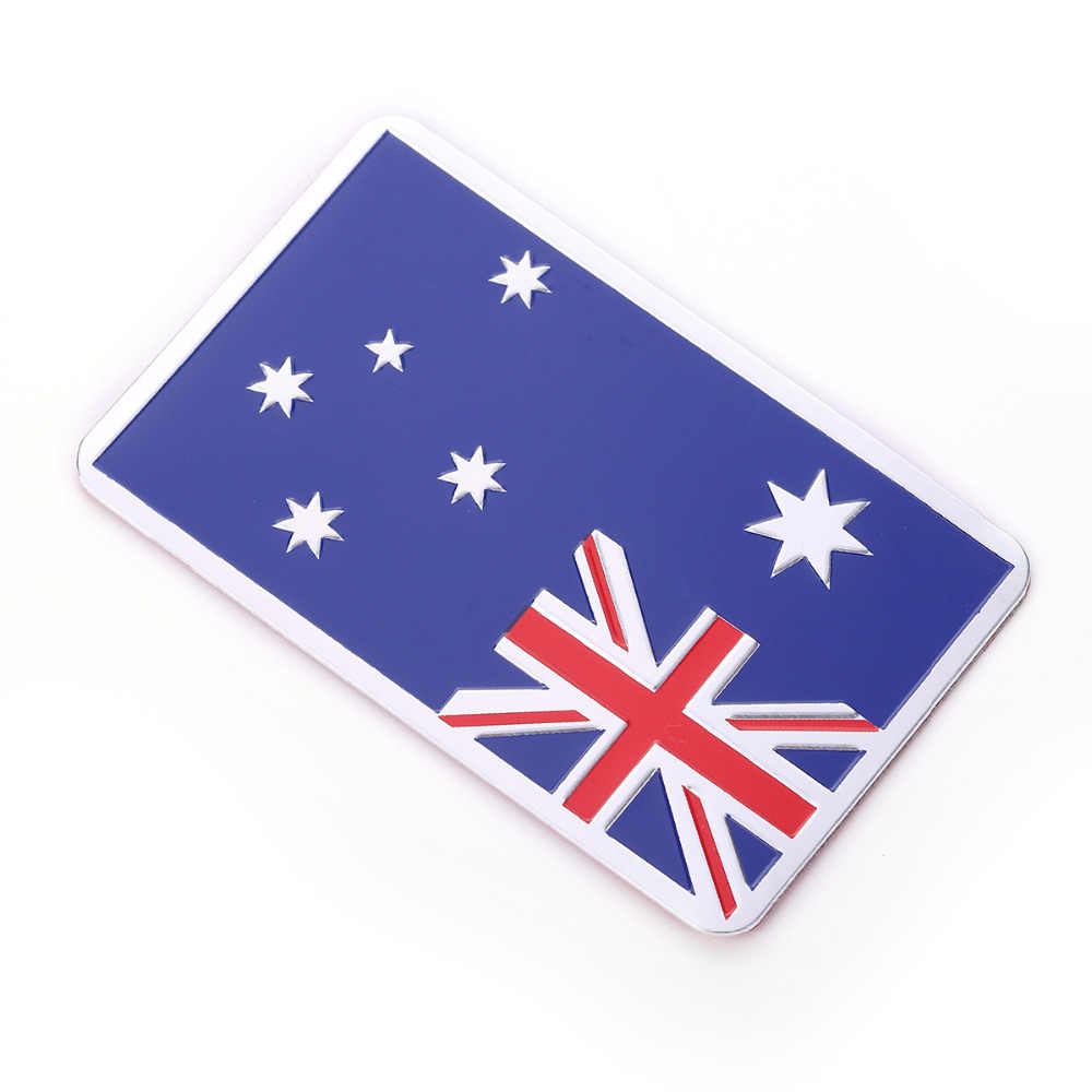 3D الألومنيوم إيطاليا ألمانيا فرنسا روسيا أستراليا الولايات المتحدة خريطة العلم الوطني سيارة ملصق سيارة التصميم CT6256